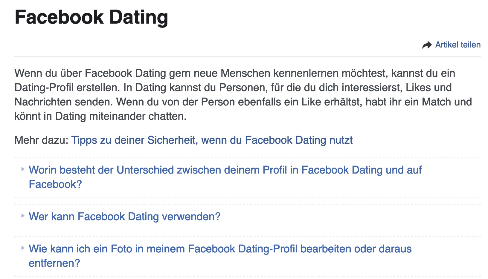 FacebookDating