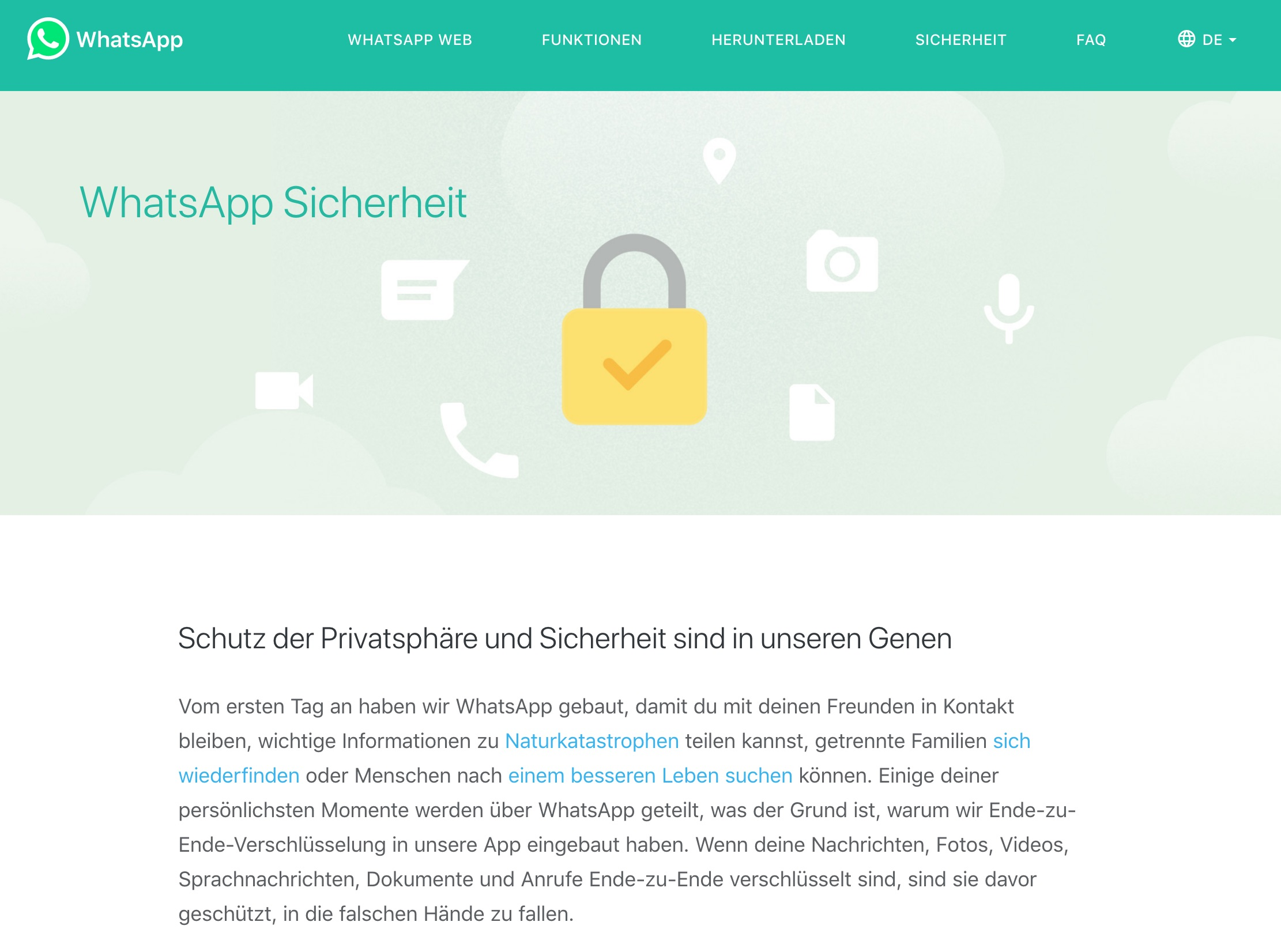 WhatsAppSicherheit