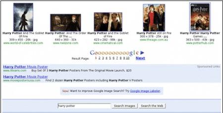 Google Images Search mit Google AdWords Anzeigen