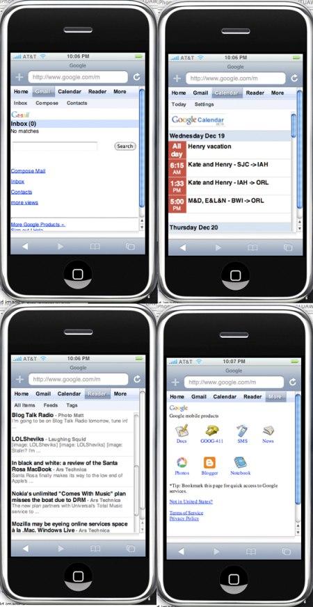 Google Startseite im neuen Design fürs Apple iPhone