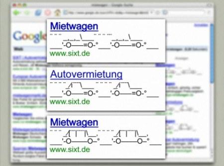Google AdSense Werbung mit ASCII Code