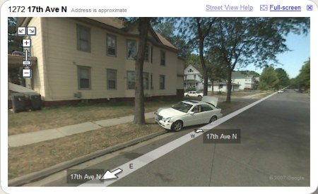 Google Maps StreetView Autounfall in Minneapolis