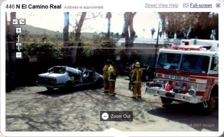 Google Maps StreetView Autounfall in Oceanside