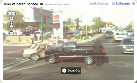 Google Maps StreetView Autounfall in Phoenix