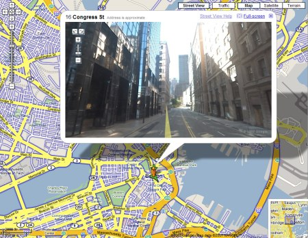 Google Maps StreetView: Boston