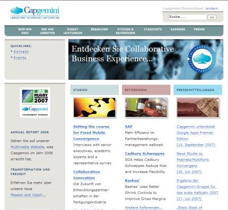 Capgemini - Consulting- und Outsourcing-Unternehmen