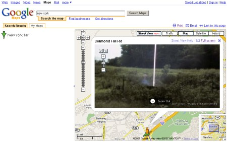 E.T. - Der Ausserirdische - Google Maps Street View Sichtung - Bild 1