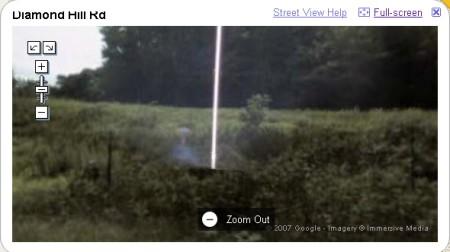 E.T. deutlicher zu erkennen, vergrössert man sich den Street View Ausschnitt