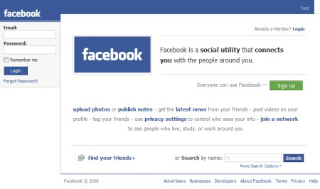 Facebook Social Networking Plattform