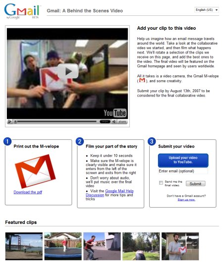 Google Gmail Werbe Video - Add your clip to this video