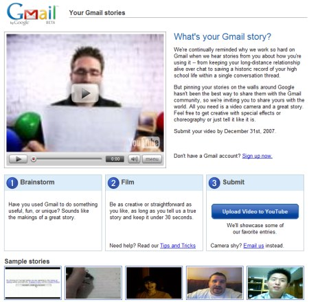 Gmail Wettbewerb: Whats your Gmail Story?