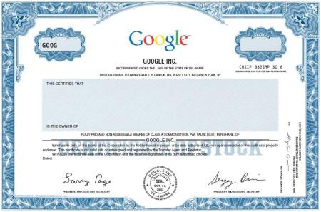 Google Aktie - Foto der Google Aktie