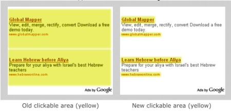 Google AdSense Anzeigen Vergütung vorher und nachher