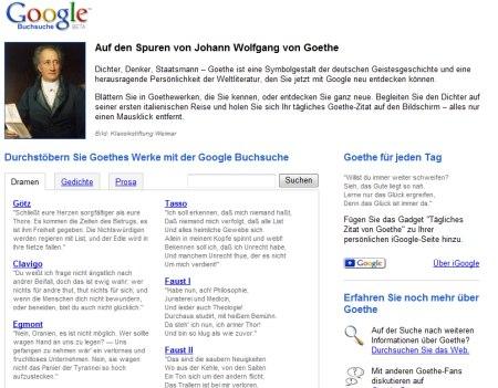 Johann Wolfgang von Goethe - Google Book Search Seite