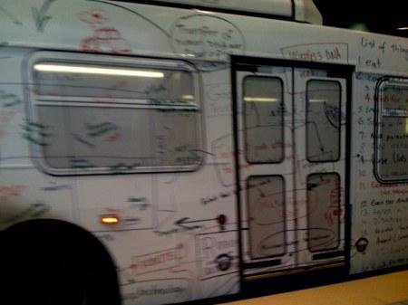 Google Bus mit Google Masterplan Mobile