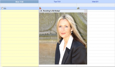 Google Calendar mit Foto zum Geburtstags Eintag