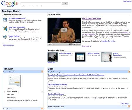 Google Code im neuen Design