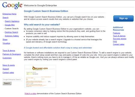 Custom Search Business Edition