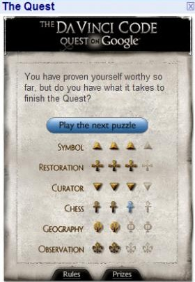 Google Da Vinci Code Special
