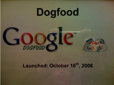 Google Dogfood - Google Hundefutter