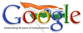 Google Doodle Indien - 60 Jahre Freiheit