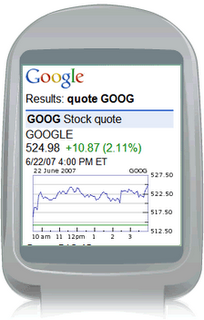 Google Finance Mobil