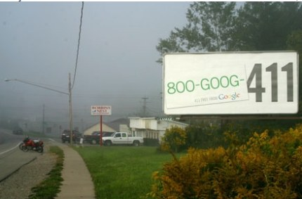 Goog-411 Werbung ausserhalb von Großstädten