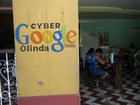 Google Internet Cafe in Brasilien