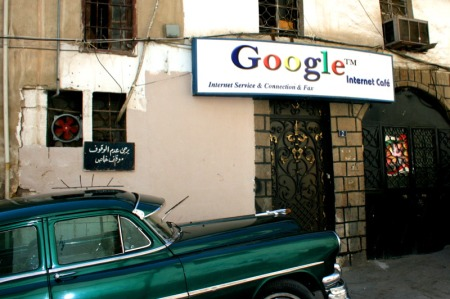 Google Internet Cafe in Damaskus, Syrien