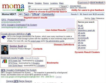 MOMA - Google Intranet Suchmaschine