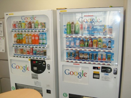 Snack Automaten in Googles Niederlassung in Japan