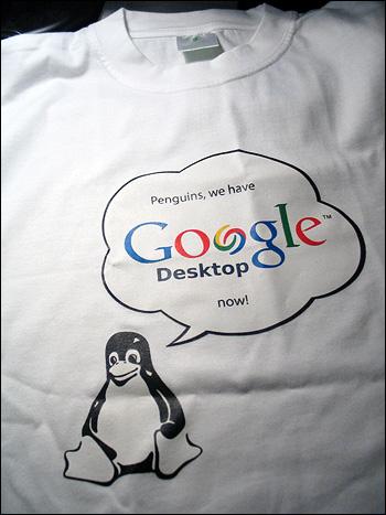 Google Desktop für Linux T-Shirt