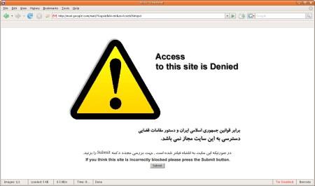 Zugriff auf Google Mail gesperrt im Iran