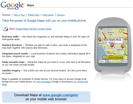 Google Maps for Mobile 2.0 Beta