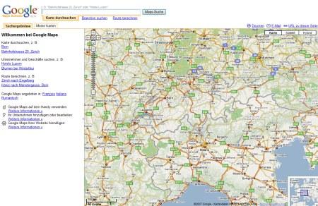 Google Maps Schweiz