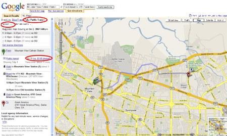 Google Transit in Routenplaner Funktion von Google Maps integriert