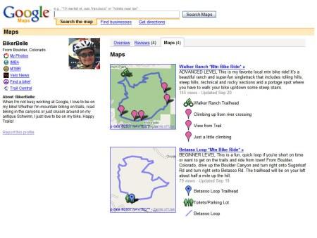 Google Maps Nutzerprofil