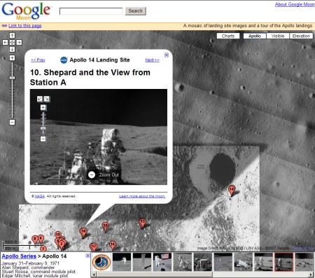 Google Mond Karten Service - Neue Google Moon Maps