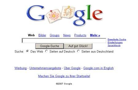 Google Logo zum Muttertag