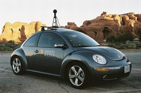 Google Autos - VW New Beetle als Google StreetView Car