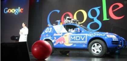 Google Autos - Offroad SUV auf Google Veranstaltung