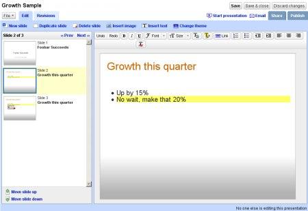 Google Präsentations - Google Presently - Google Presentations
