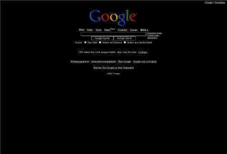 Google Black - Licht Aus! Für unser Klima