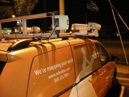Google Street View Car von Teleatlas.com - Ansicht hinten Rechts