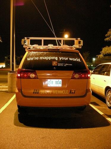Google Street View Car von Teleatlas.com - Ansicht von Hinten