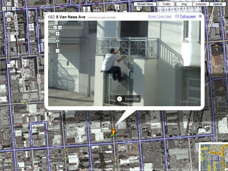 Google Street View Einbruch