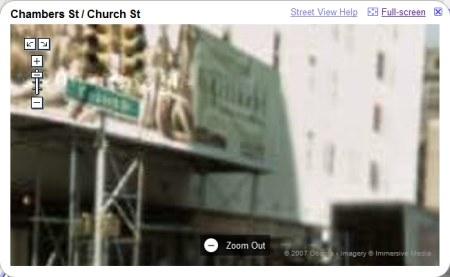 Google Maps Streetview Ansicht von New York in maximaler Zoomstufe