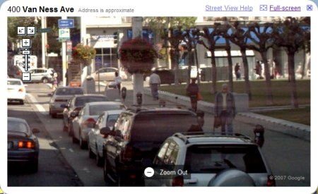 Google Maps Streetview Ansicht von San Francisco in maximaler Zoomstufe