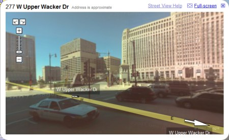 Chicago in Google Maps StreetView Ansicht