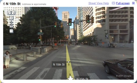 Philadelphia in Google Maps StreetView Ansicht